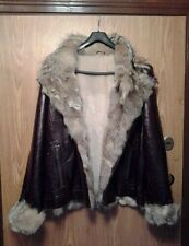 New Men's Italian MADDOX Genuine Fur/Leather Jacket w Sheepskin Shearling Inside