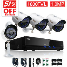 Wired 4CH 960H Night Outdoor Home Security Camera System HDMI CCTV DVR 1800TVL