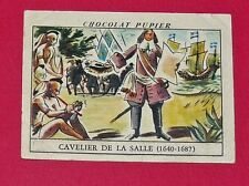 CHROMO N°60 CAVELIER DE LA SALLE CHOCOLAT PUPIER AMERIQUE DU NORD 1952