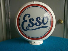 gas pump globe ESSO reproduction 2 GLASS LENS in a plastic body NEW
