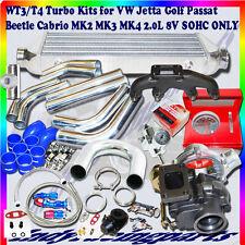 VW Jetta Golf Passat Beetle Cabrio MK2 MK3 MK4 Complet T3/T4 Turbo Kit 2.0L SOHC