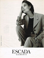 PUBLICITE ADVERTISING 025  1997  ESCADA  haute couture CHRISTY TURLINGTON ?
