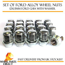 Set of 20 12x1.5mm Ford Original OEM Alloy Wheel Nuts Lug Ghia Bolts with Washer