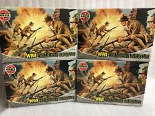 airfix 1/72 a01729 4x boxes ww1 american infantry new old stock model figure kit