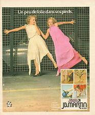 Publicité 1978  JB. MARTIN chaussure pret à porter collection