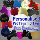 Custom Engraved Coloured Pet ID Animal Collar Name Medical Disc Cat Dog Tags