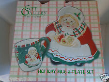 Gift Gallery By Fitz and Floyd Mrs. Claus Holiday Mug & Plate Set