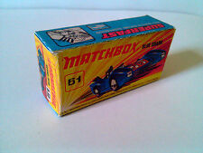Boîte copie repro MATCHBOX Superfast N° 61 Blue Shark ( reproduction box vide )