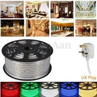 LED Strip 220V-240V IP67 Waterproof 3528 SMD Commercial Lights Rope UK Plug