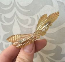 Vintage French Art Deco Natural Horn Dragonfly Mayfly Bug Brooch Pin Like Bonte