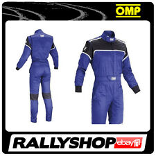 OMP Blast  Mechanic Suit  BLUE 48 Overalls Garage Workshop  RACE RALLY MOTOSPORT