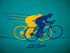 Vintage 1980s L.L. BEAN CYCLING T SHIRT 1986 Bike Racing OUTDOOR GEAR LL 80s S/M