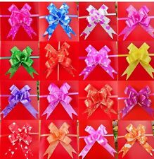 50 LARGE PULL BOWS MIX COLOURS RIBBONS BIRTHDAY PARTY ] [ BALLOONS,BANNERS ETC