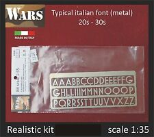 WARS Carattere tipico ventennio italiano / Typical italian font (metal) kit 1/35