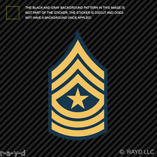 E-9 Sergeant Major Insignia Sticker Decal Self Adhesive Vinyl united states army