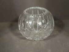 VINTAGE UNMARKED CRYSTAL ROSE BOWL VASE