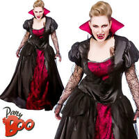Vampire Queen UK 22-24 Ladies Fancy Dress Halloween Plus Size Vampiress Costume