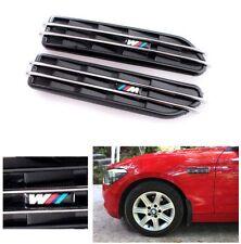 2PCS Auto Seiten Gill Hai Dekorative M Embleme Refit Aufkleber Für BMW