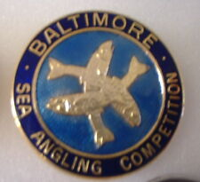 BALTIMORE SEA ANGLING COMPETITION Enamel Pin Badge FISHING