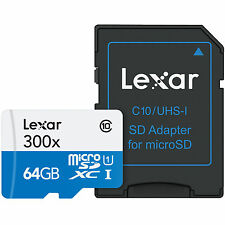 Lexar High-Performance 300x 45MB/s Micro SD 64GB Class 10 SDXC 64 G GB MicroSD