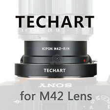 Kipon and TECHART auto foucs adapter for M42 mount lens to Sony A7RII