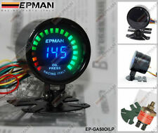 "EPMAN RACING 52mm 2"" DIGITAL ANALOG LED OIL PRESSURE GAUGE METER WITH SENSOR"