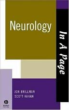 In a Page Ser.: Neurology by Jon Brillman and Scott Kahan (2005, Paperback)