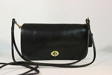 "Vintage COACH Black SMALL POCKET ""PENNY"" SHOULDER CLUTCH BAG HANDBAG PURSE NYC"