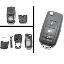Fit For VW Polo GOLF MK6 Touareg 3 Buttons Remote Key FOB Shell Case Uncut Blade