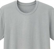 UNIQLO Men's HEATTECH Crewneck T-Shirt M LIGHT GRAY Stretch Under Garment *NIP*