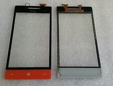 Glas Touch Touchscreen Digitizer Lens Scheibe Orange für HTC Windows Phone 8S