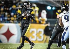 BEN ROETHLISBERGER STEELERS COLOR 8X10 VS RAVENS  12/25/16 SUPER UNIFORM