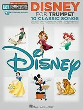 Disney: Trumpet Easy Instrumental Play-Along Book with Online Audio Tracks (Hal