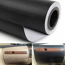 Black Carbon Fiber Texture Decorative Decal Bubble Free Air Release Sticker Wrap