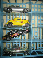 """4 RARE HTF HOT WHEELS 3 MADE IN MALAYSIA & 1 IN INDIA , """" SOLD AS IS """""""