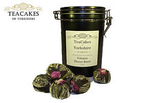 Artisan Green Tea Gift Caddy Volcano Flower Burst Flowering 6 balls