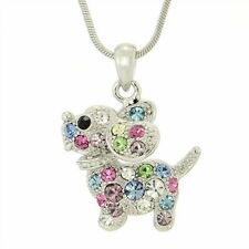 DOG W Swarovski Crystal Multicolor Beagle Puppy Pet Friend Pendant Necklace Gift