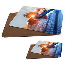 Supergirl, Melissa Benoist MDF Hard Backed Placemat & Coaster Set