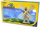 USD - DIY Solar Wooden 3D Wind Mill Puzzle Toy for Kids