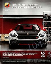 ABARTH 124 SPIDER - 2016 ADVERT