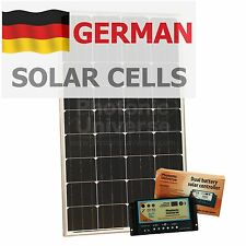 120W 12V dual battery solar panel charging kit motorhome camper boat yacht van