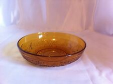 "Vintage Indiana Glass Daisy Tiara Gold/Amber apx. 6 1/2"" X 1 3/4"" Salad Bowls"