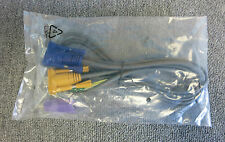 New KVM Switch Cable VGA 15 Pin Male To VGA 15 Pin Male PS2 / USB