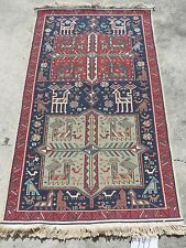 3x5ft. Tight Colorful Caucasian Akstafa Sumak Multi-Colored Prayer Rug