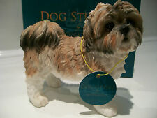 Shih Tzu Ornament Figure Figurine Model Gift Brown/White