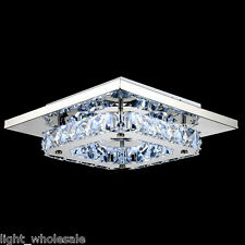 Modern LED Crystal Flush Mount Chandeliers Ceiling Light Pendant Lamp Lighting