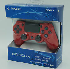 Official DualShock 4 Wireless Controller Magma Red SONY Playstation 4 PS4 NIB