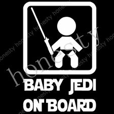 Baby jedi on board star wars Vinyl cut decal sticker car auto window Wall