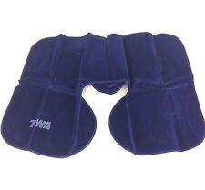 Vintage TWA Airlines Inflatable Neck Pillow With Case Navy Blue Color