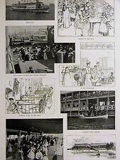 St. John's Guild FLOATING HOSPITAL Doctors Medical 1892 Antique Print Matted